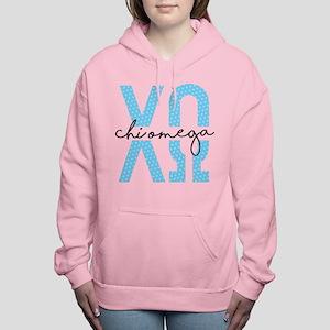 Chi Omega Polka Dots Women's Hooded Sweatshirt