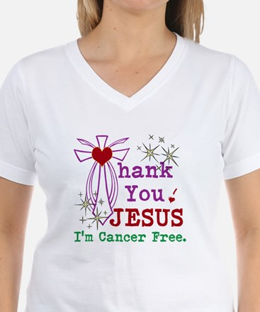 Thank You JESUS I'm Cancer Free Shirt