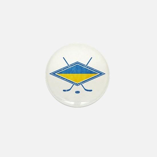 Ukrainian Ice Hockey Flag Mini Button