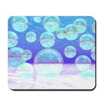 Frosty Clarity Abstract Mousepad