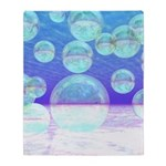 Frosty Clarity Abstract Throw Blanket