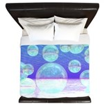 Frosty Clarity Abstract King Duvet