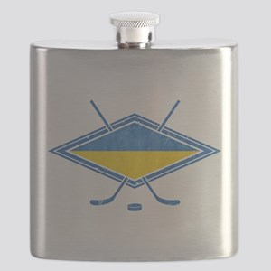 Ukrainian Ice Hockey Flag Flask