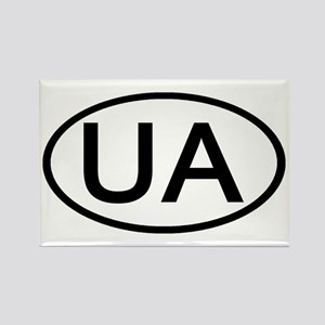 Ukraine - UA Oval Rectangle Magnet