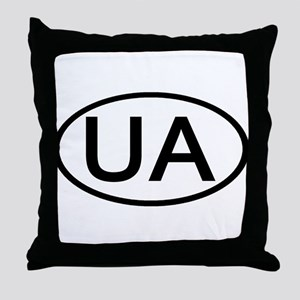 Ukraine - UA Oval Throw Pillow