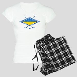 Ukrainian Ice Hockey Flag Pajamas