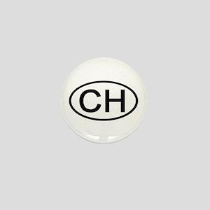 Switzerland - CH Oval Mini Button