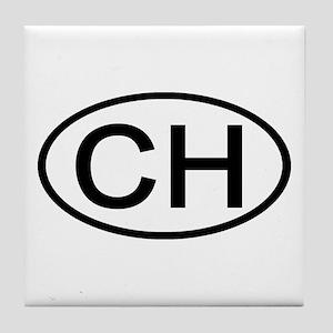 Switzerland - CH Oval Tile Coaster
