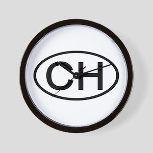 Switzerland - CH Oval Wall Clock