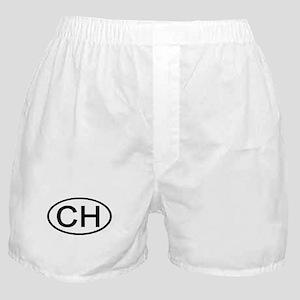 Switzerland - CH Oval Boxer Shorts