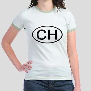 Switzerland - CH Oval Jr. Ringer T-Shirt