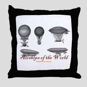 Airships of the World Throw Pillow