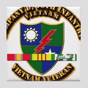 Army - Company D, 75th Infantry w SVC Ribbons Tile