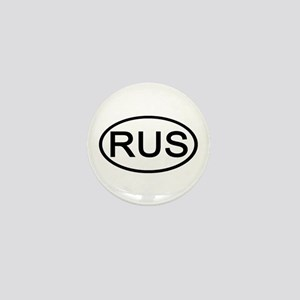 Russia - RUS Oval Mini Button