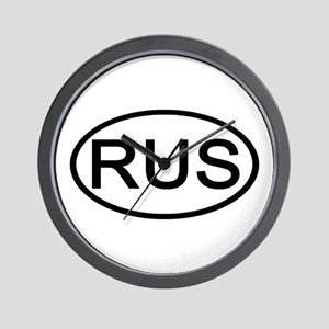 Russia - RUS Oval Wall Clock