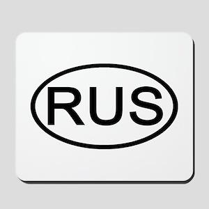 Russia - RUS Oval Mousepad