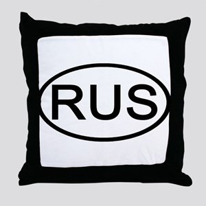 Russia - RUS Oval Throw Pillow