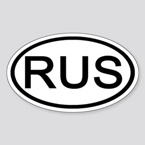 Russia - RUS Oval Oval Sticker
