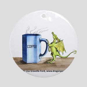 Morning Coffee Ornament (Round)
