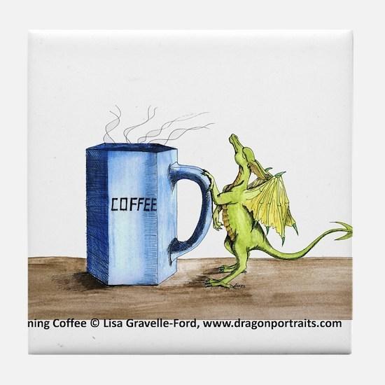 Morning Coffee Tile Coaster