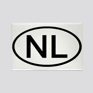 Netherlands - NL Oval Rectangle Magnet