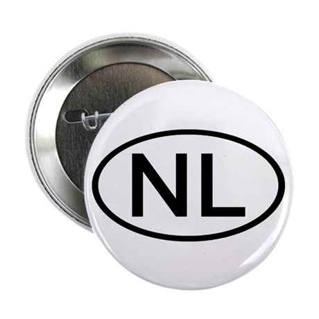 """Netherlands - NL Oval 2.25"""" Button (100 pack)"""