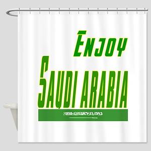 Enjoy Saudi Arabia Flag Designs Shower Curtain