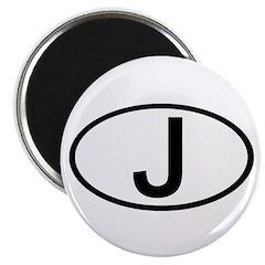 Japan - J Oval Magnet