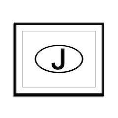 Japan - J Oval Framed Panel Print