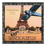 "Wack-A-Deux CD Square Car Magnet 3"" x 3"""