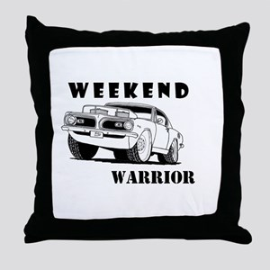 Weekend Warrior at the Drags Throw Pillow