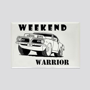 Weekend Warrior at the Drags Rectangle Magnet