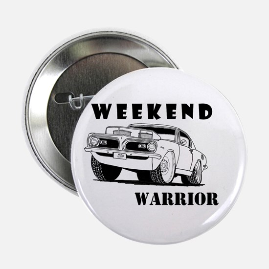 """Weekend Warrior at the Drags 2.25"""" Button"""