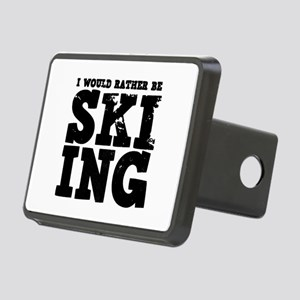 'Rather Be Skiing' Rectangular Hitch Cover