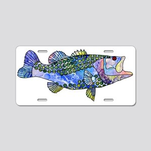 Wild Bass Aluminum License Plate
