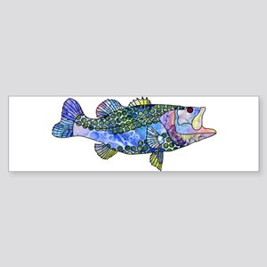 Wild Bass Bumper Sticker