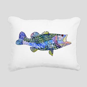 Wild Bass Rectangular Canvas Pillow