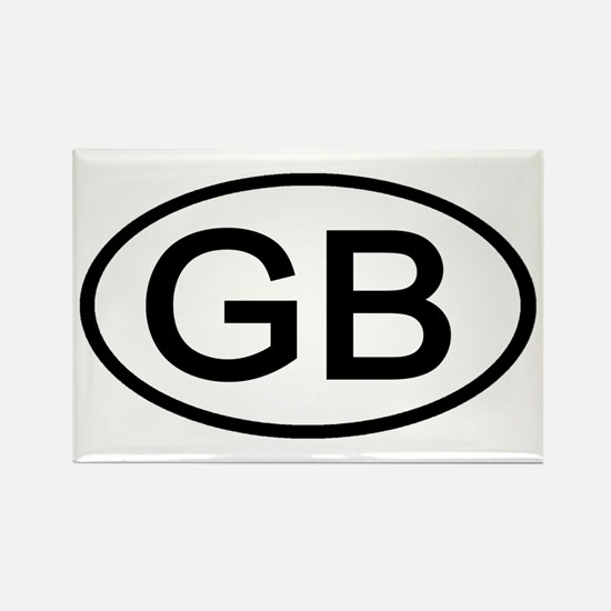 Great Britain - GB Oval Rectangle Magnet