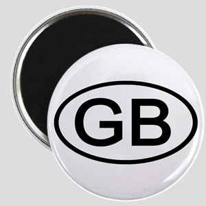 Great Britain - GB Oval Magnet