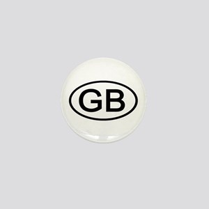 Great Britain - GB Oval Mini Button