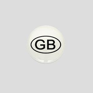Great Britain - GB Oval Mini Button