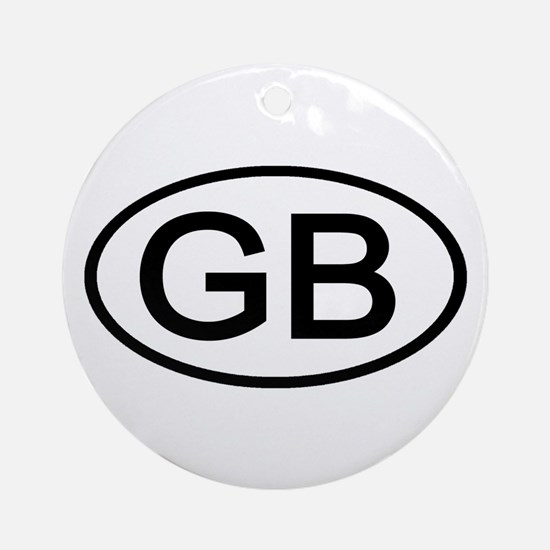 Great Britain - GB Oval Ornament (Round)