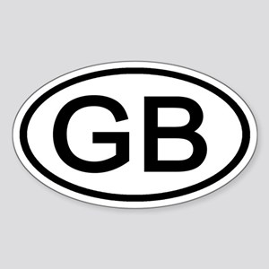 Great Britain - GB Oval Oval Sticker