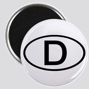 Germany - D Oval Magnet