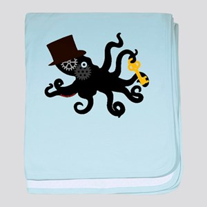 Steampunk Octopus baby blanket