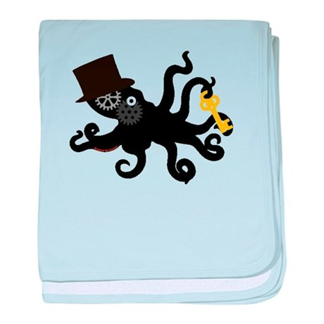 Steampunk Octopus baby blanket
