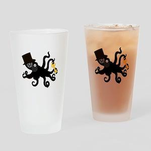 Steampunk Octopus Drinking Glass