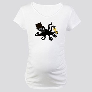 Steampunk Octopus Maternity T-Shirt