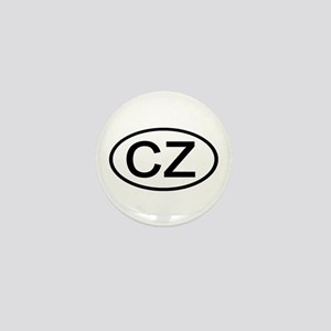 Czech Republic - CZ Oval Mini Button
