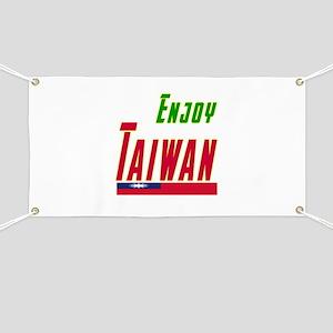 Enjoy Taiwan Flag Designs Banner